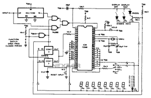 Cycle 100 MHz frequency counter circuit diagram under Counter Circuits 59484 : Nextgr