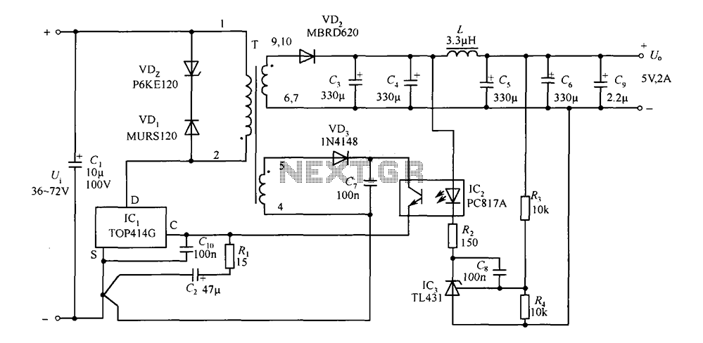 dc switching power supply capacitor