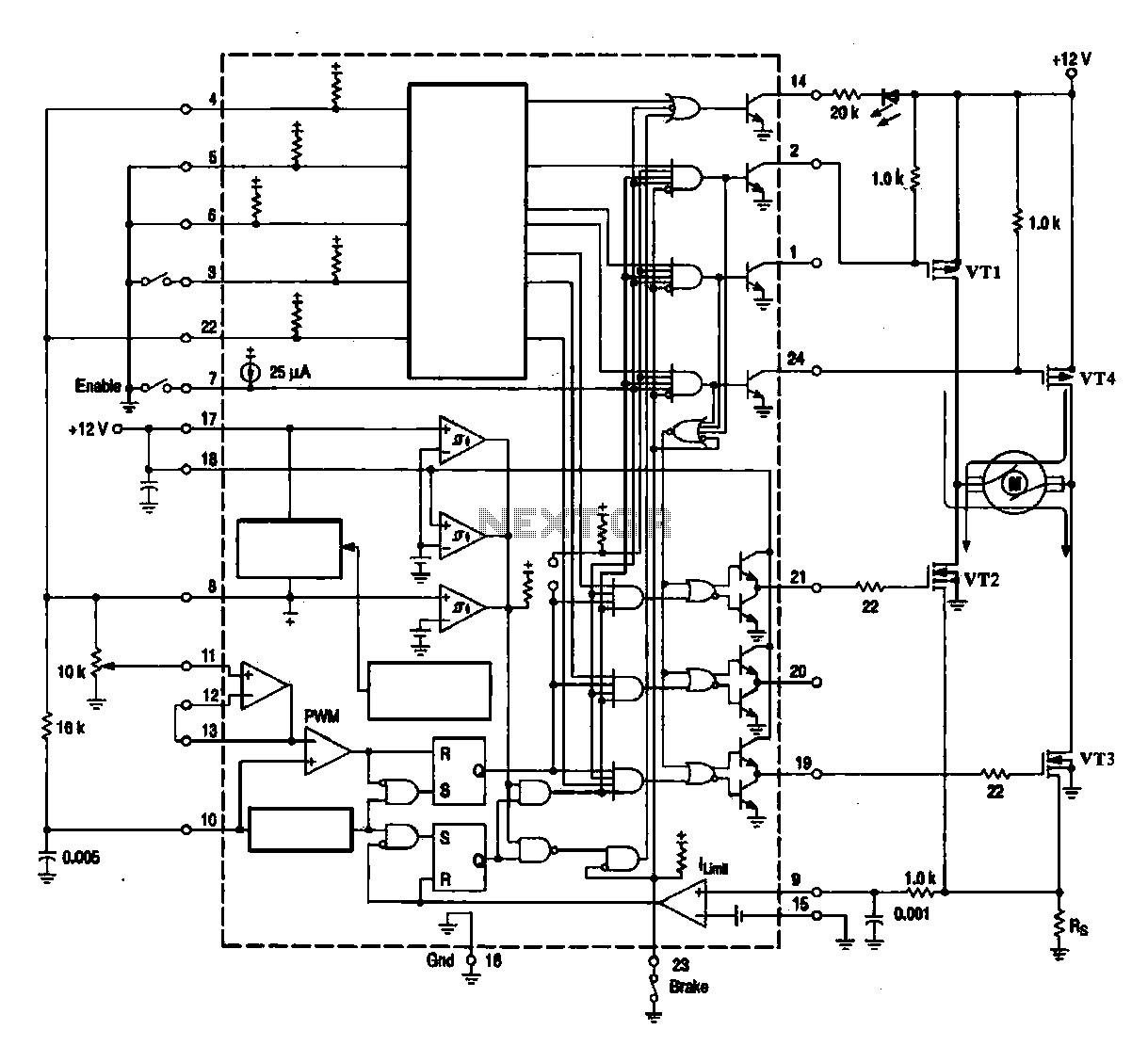 Dc Brush Motor Driver Circuit Diagram Motor Control