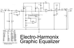 Electro harmonix graphic equalizer circuit under Repositorycircuits 23284 : Nextgr