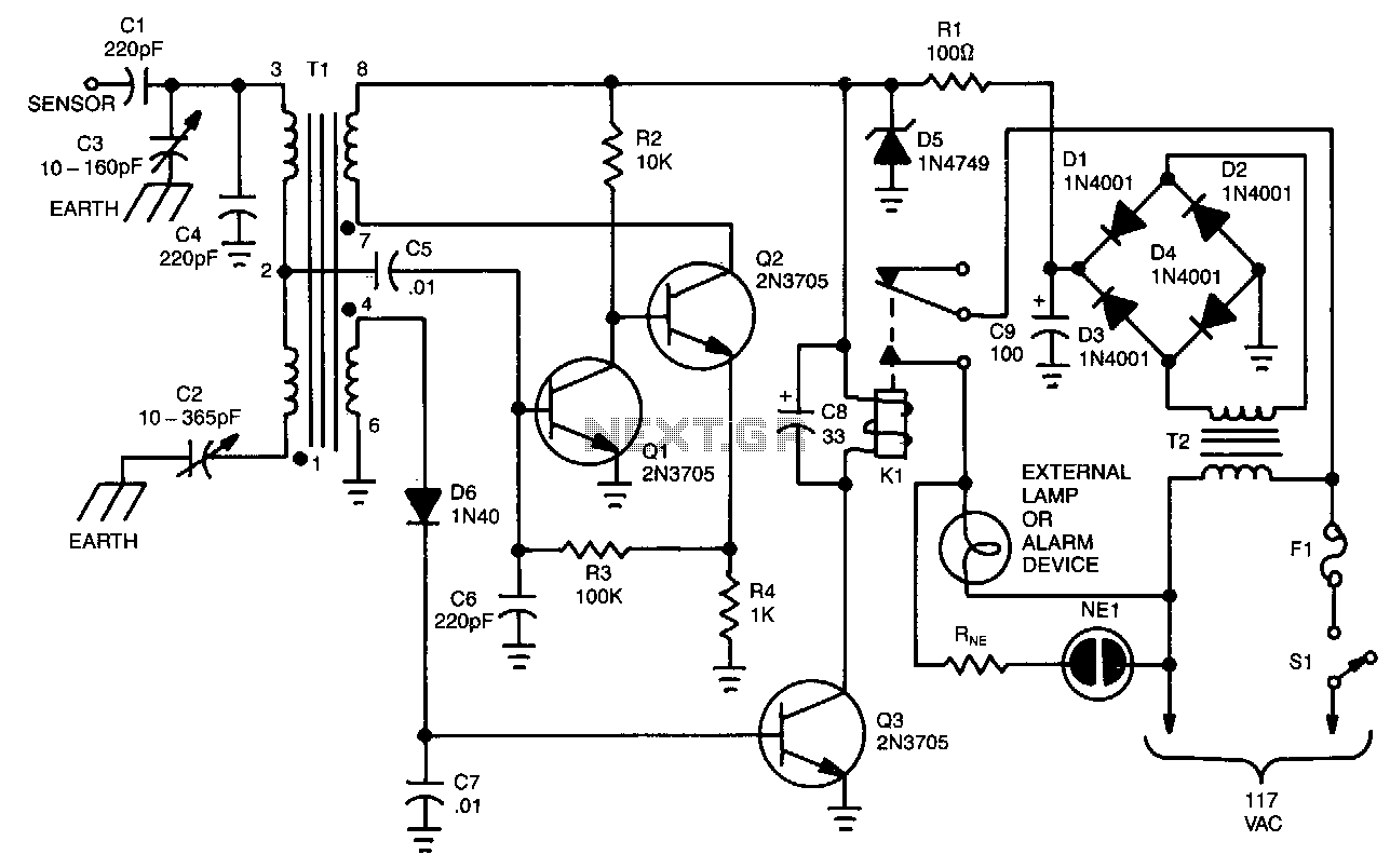 Capacitive Sensor Alarm Sensor Circuits