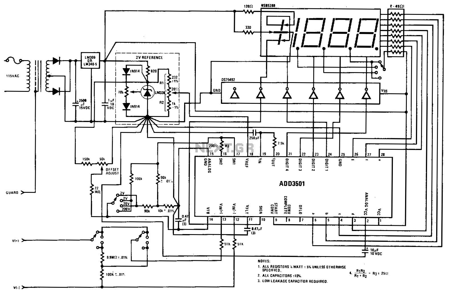 Lcd Led Display Circuit Digital Circuits Next