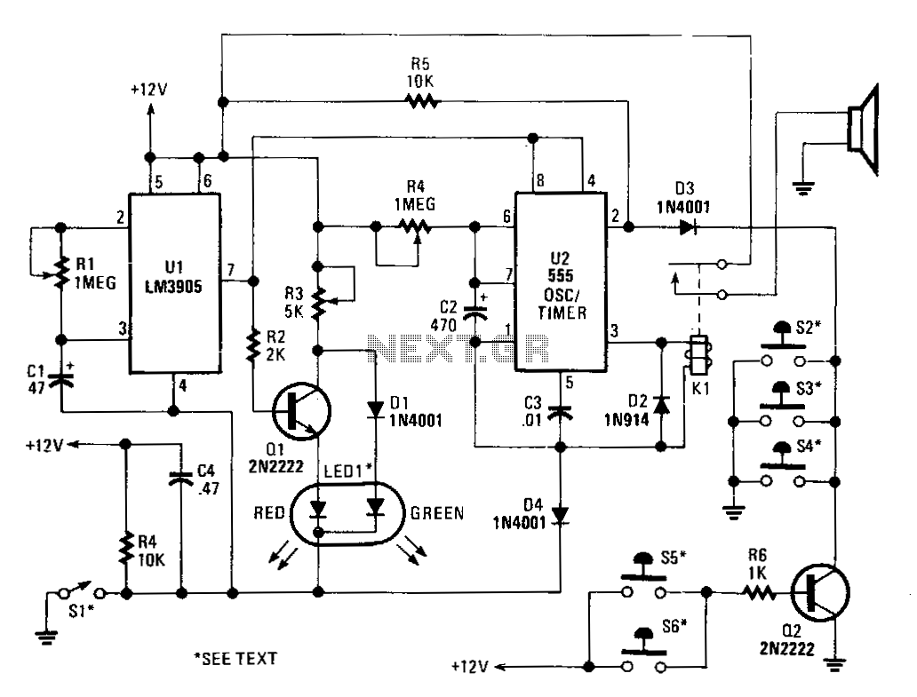 Car Alarm Circuit Automotive Circuits Next