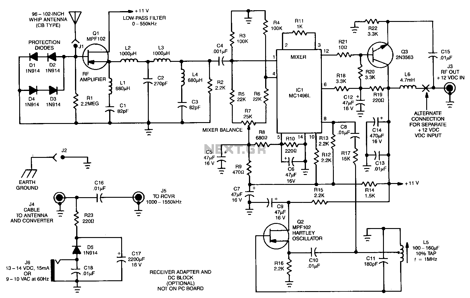Low Frequency Converter Under Rf Receiver Circuits
