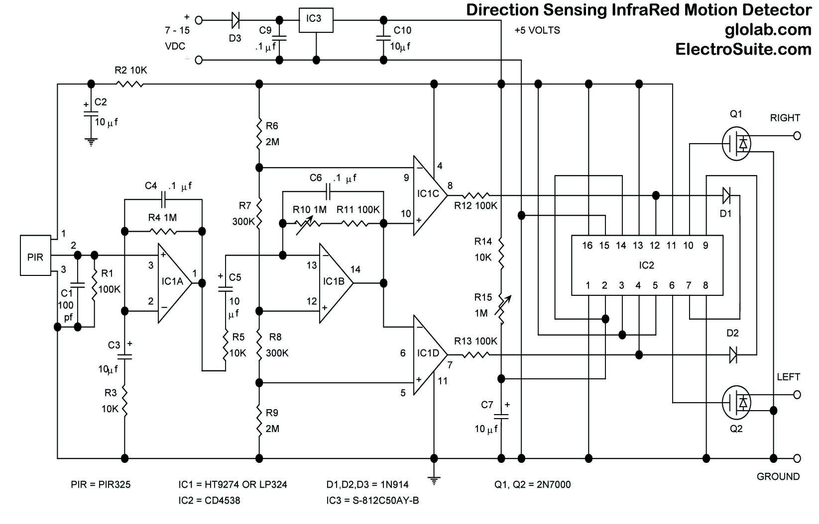 Motion Sensor Circuit Diagram