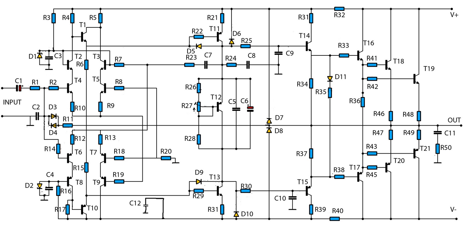W Audio Amplifier Circuit Diagram Pictures To Pin On