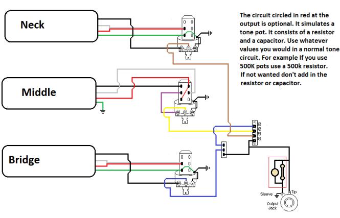 Three Humbucker Wiring Diagram Three Home Wiring Diagrams – 3 Humbucker Wiring Diagram