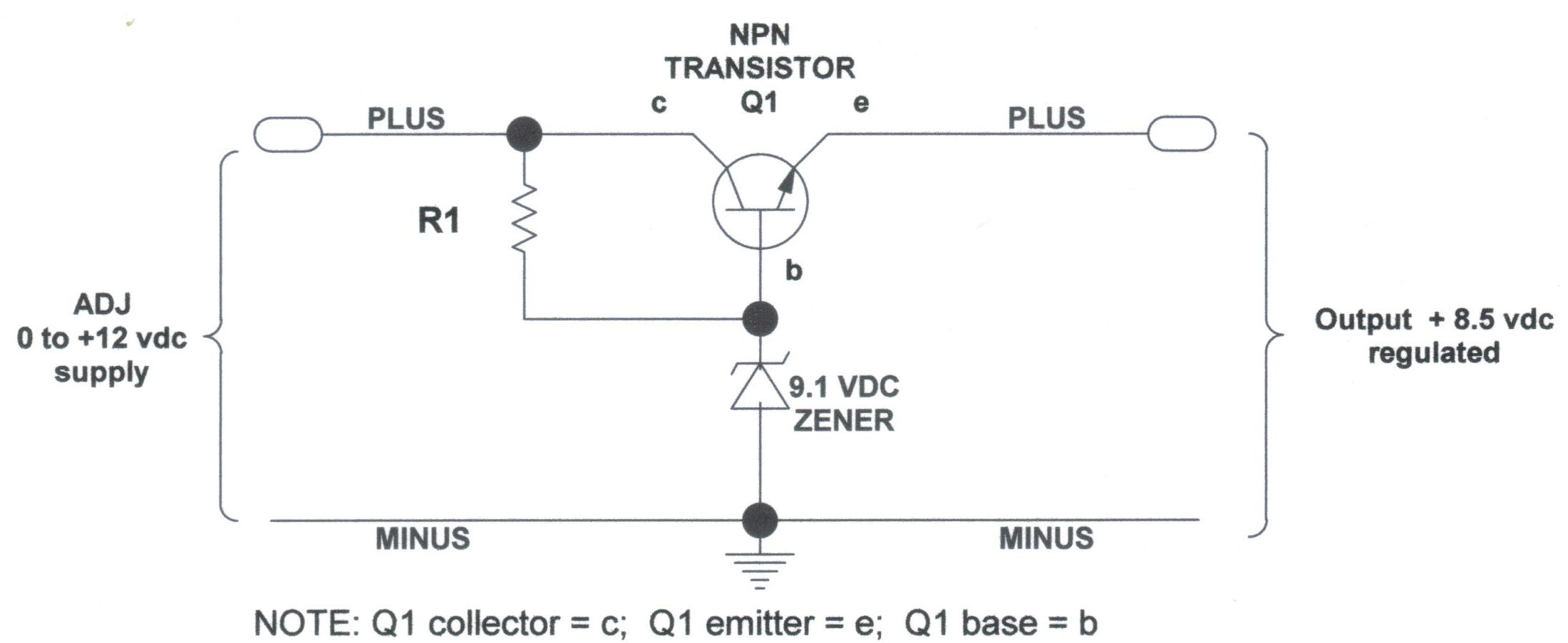 12 Volt Voltage Limiter Circuit Foldback Current Limiting