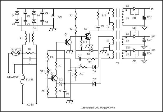 Perfect Str W6553 Tv Circuit Diagram Power Supply Inspiration ...