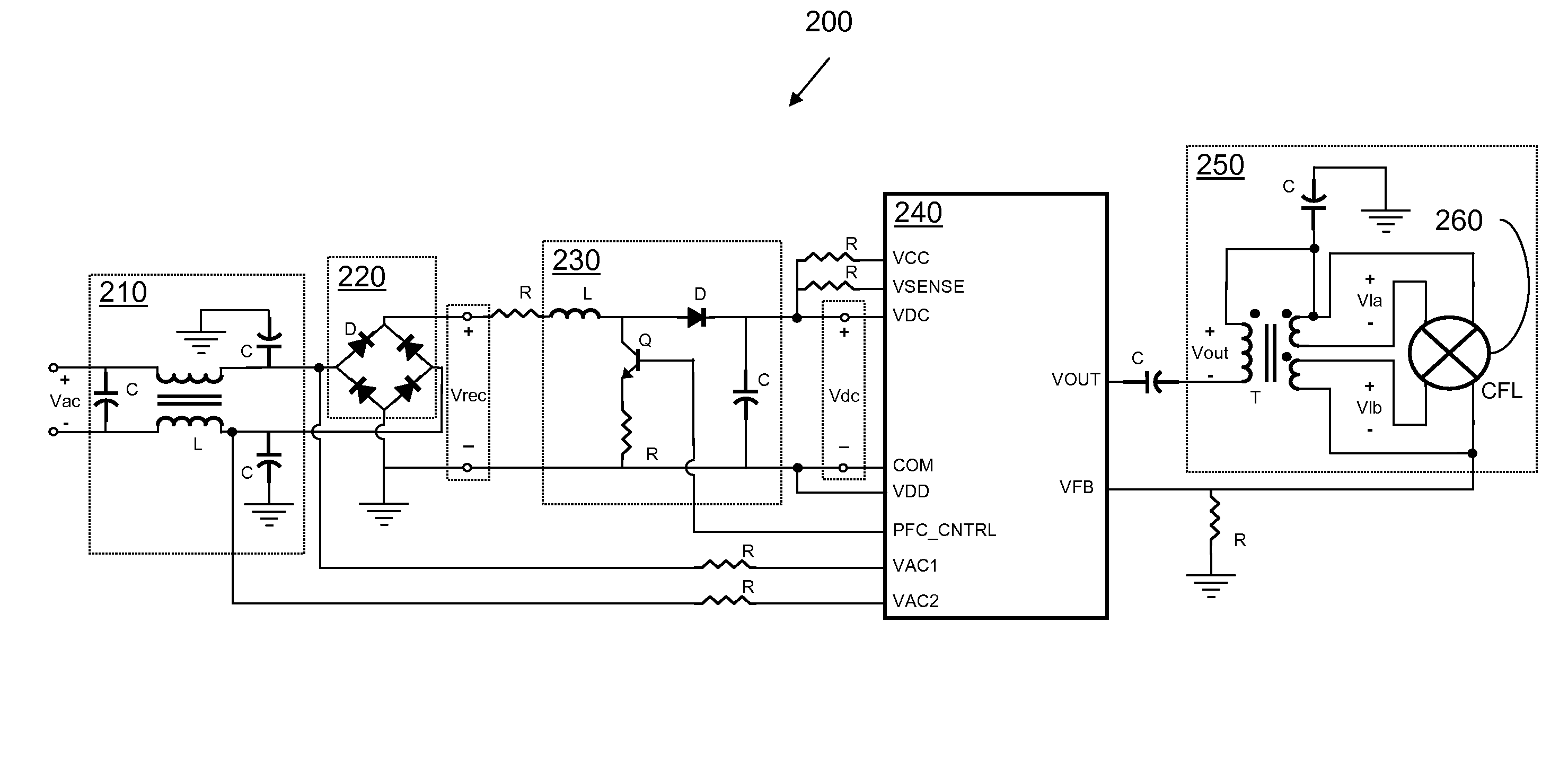Lamp Switch Schematic