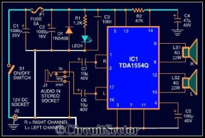22W Mobile Car Stereo Power Amplifier PCB under Repositorycircuits 36564 : Nextgr
