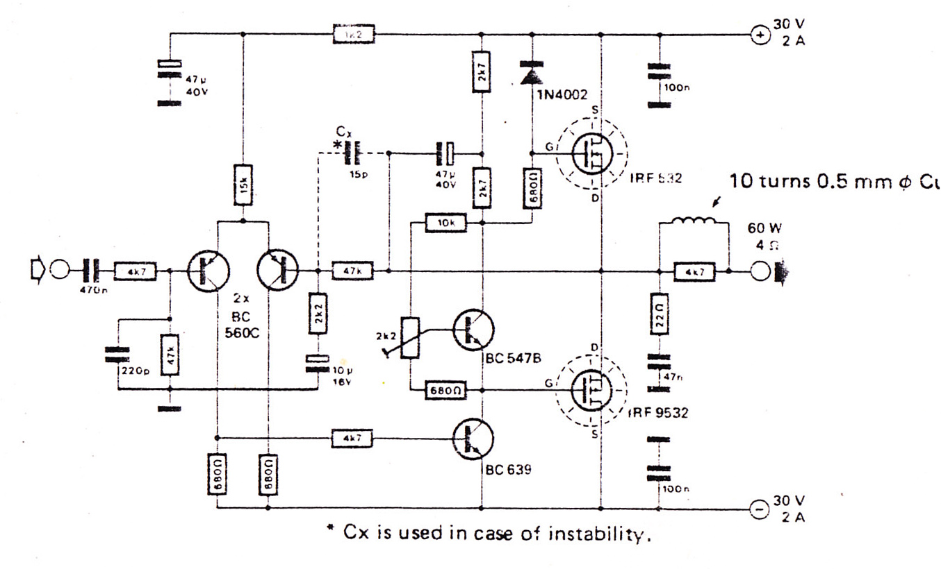 100 W Subwoofer Circuit Diagram