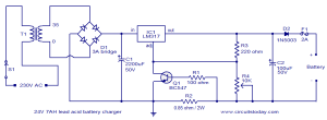 24V lead acid battery charger circuit under Repositorycircuits 36945 : Nextgr