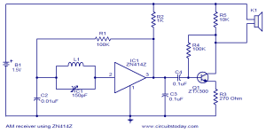 > circuits > AM receiver using ZN414 l36988  Nextgr