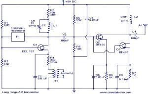 > circuits > Long range AM transmitter l37152  Nextgr