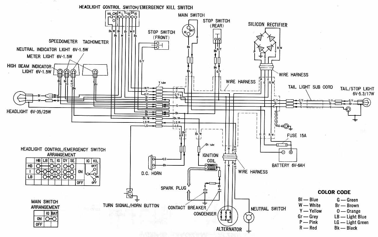Honda Xl100 Electrical Schematic Under Repository Circuits