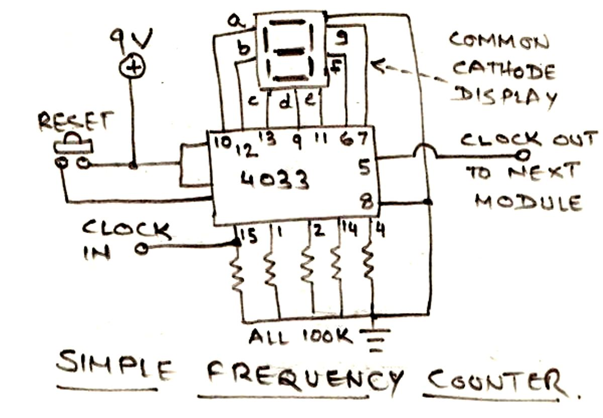 Connected To A Bcd 7 Segment Schematic Counter Circuit Diagram