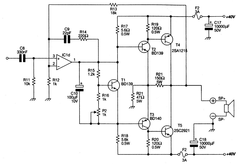 Headphone Speaker Schematic