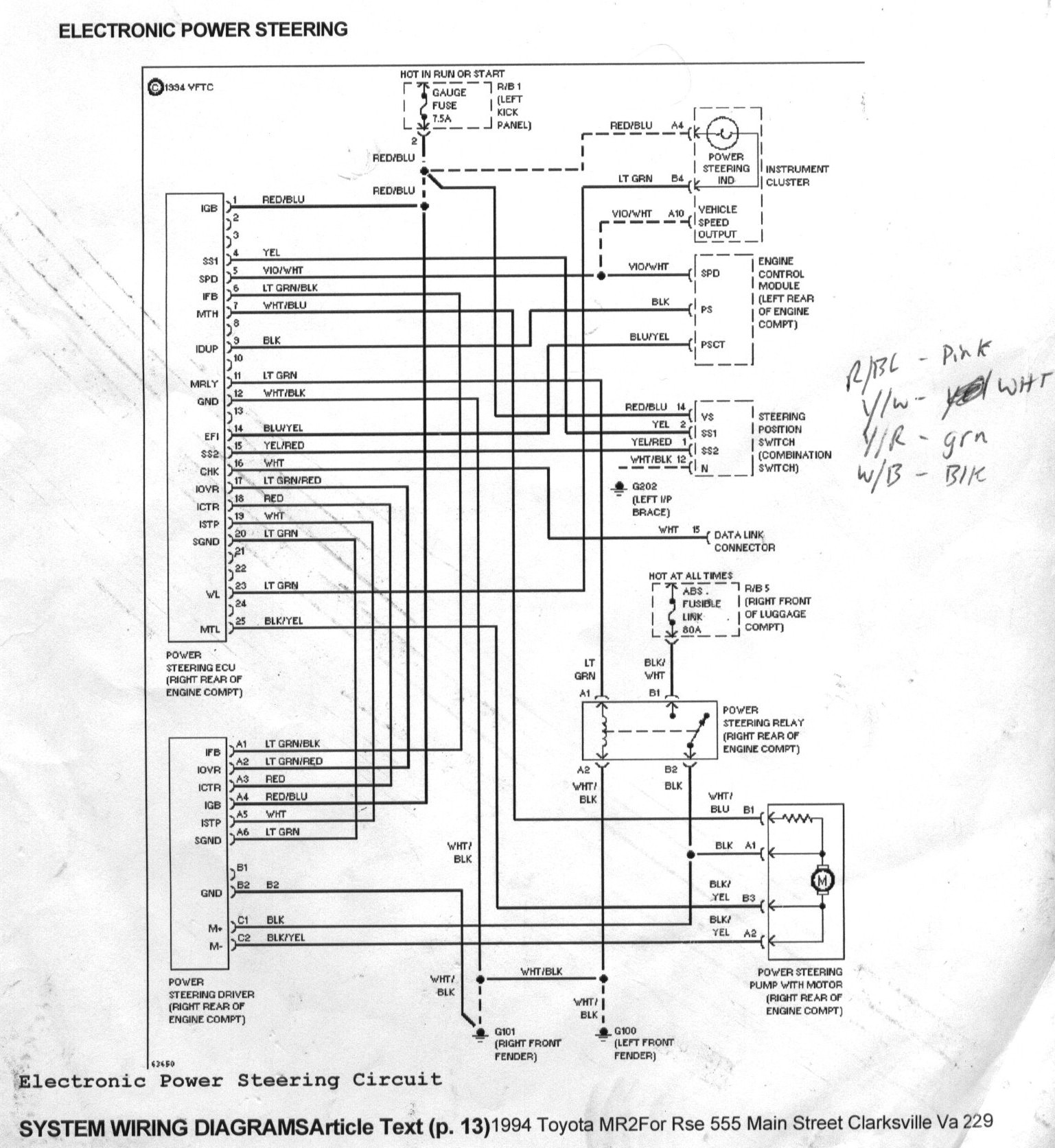 Sunfire Stereo Wiring Diagram