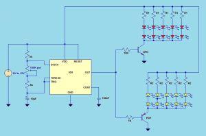 41 LED Flasher Circuit using 555 IC under Repositorycircuits 45645 : Nextgr