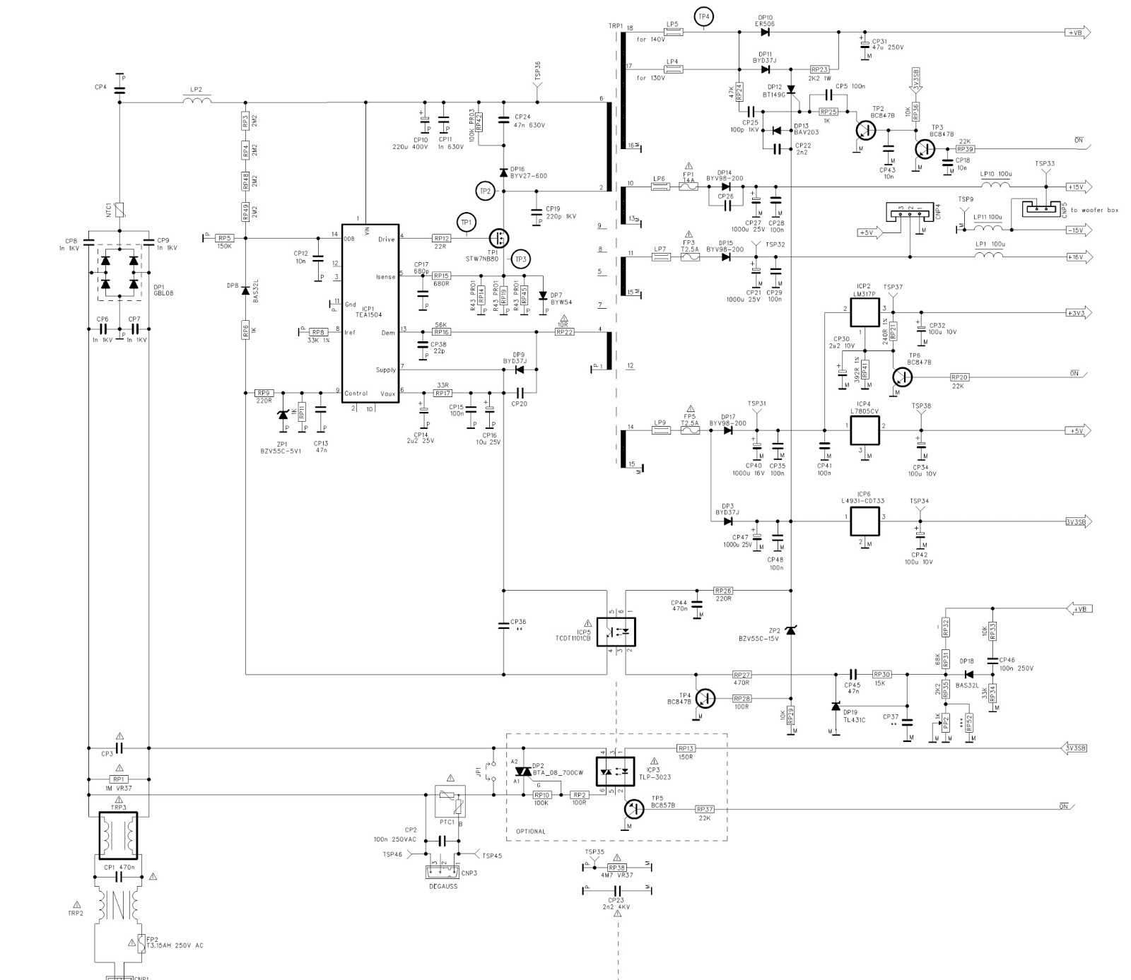 Smps power supply schematic diagram