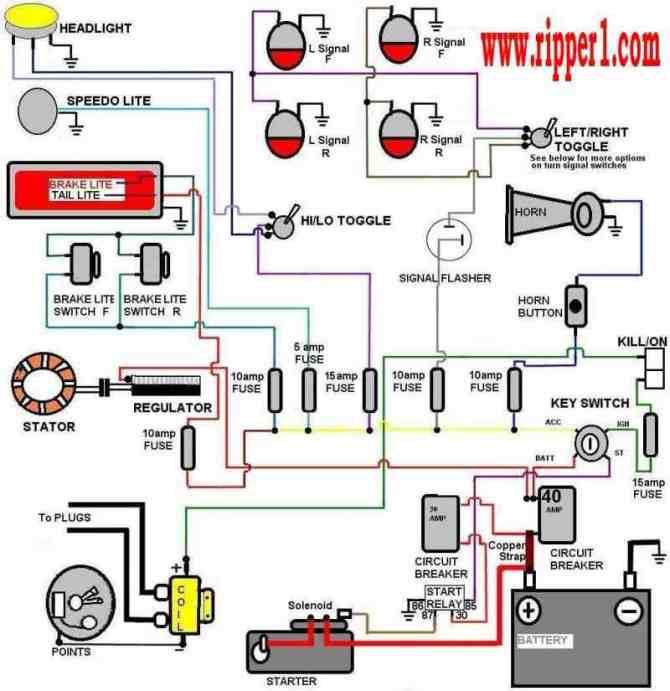 simple kit car wiring diagram  2008 ford headlight wiring