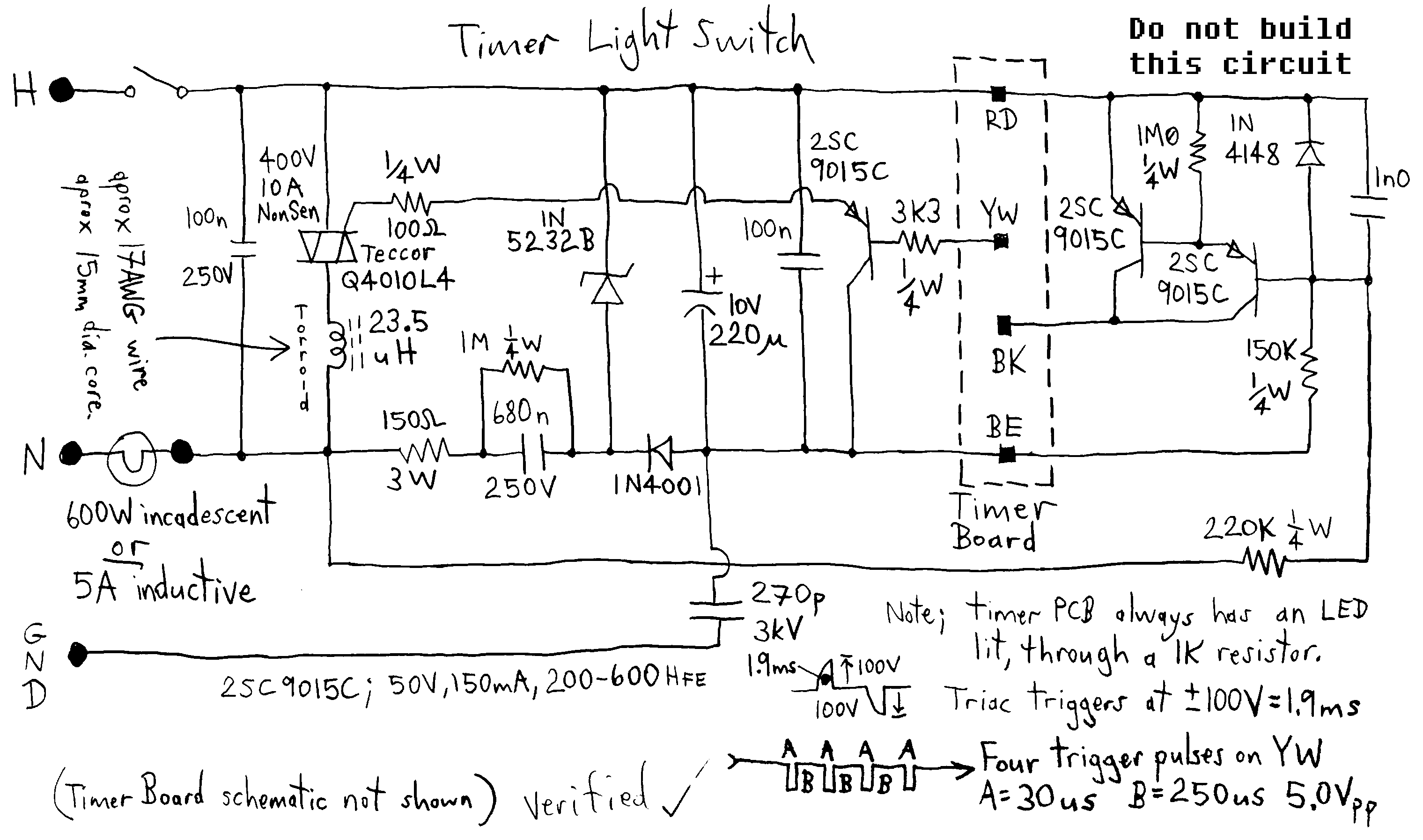 Digital Timer Light Switch Under Switching Circuits