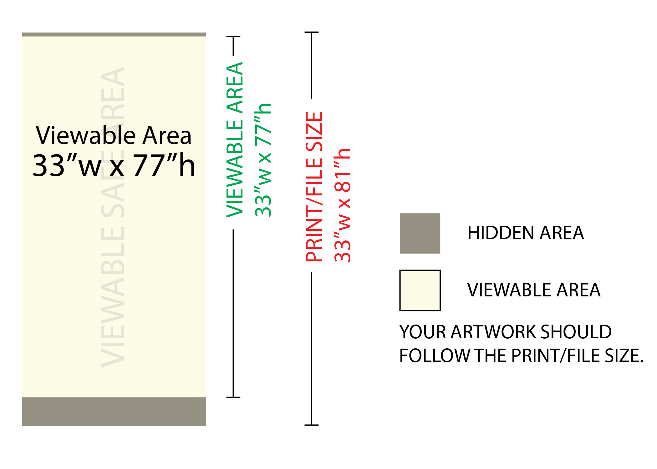 Banner dimensions (80,84,100,120)cm x 220cm (15cm bottom. 33 X 81 Deluxe Retractable Banner Next Day Display