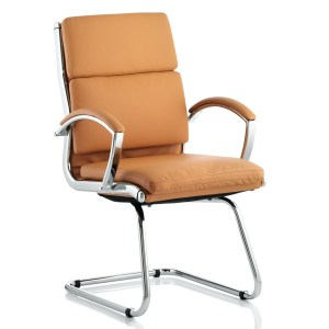 Classic Cantilever Chair Tan With Arms