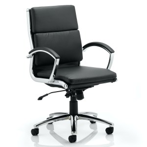 Classic Executive Chair Medium Back Black With Arms