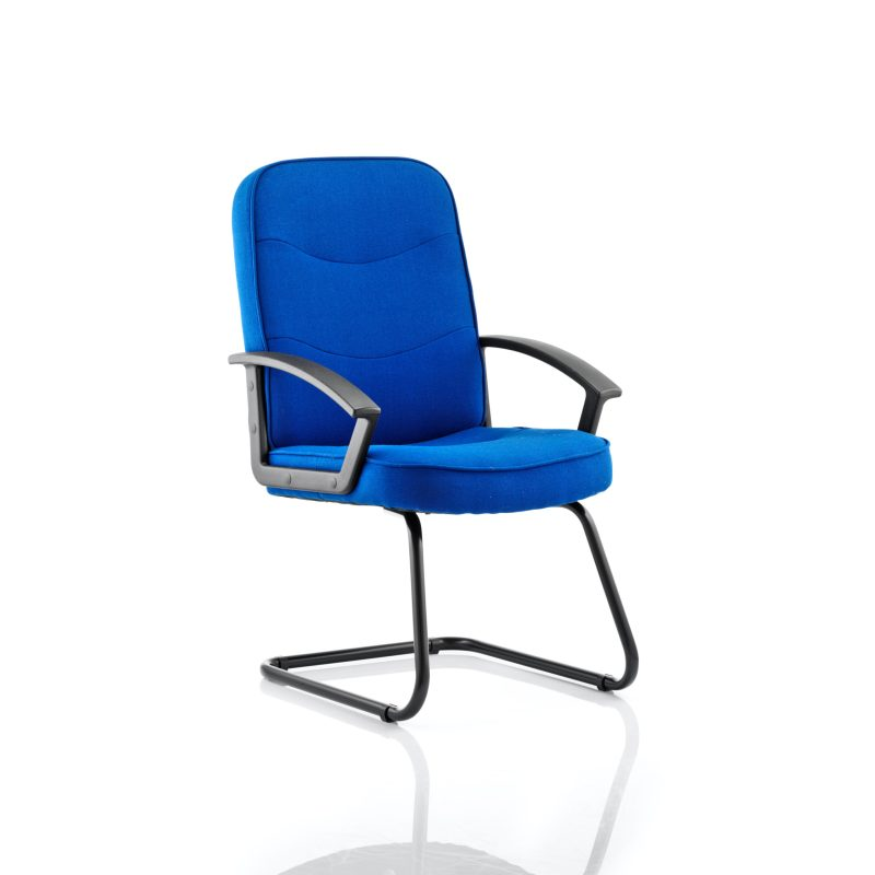 Harley Cantilever Blue Fabric With Arms