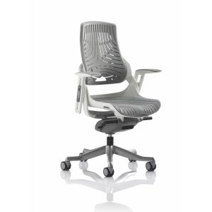 Zure Executive Chair Elastomer Gel Grey With Arms