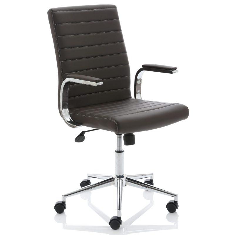 Ezra Executive Brown Leather Chair