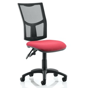 Eclipse II Lever Task Operator Chair Mesh Back With Wine Seat