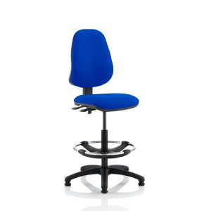 Eclipse II Lever Task Operator Chair Blue With Hi Rise Draughtsman Kit