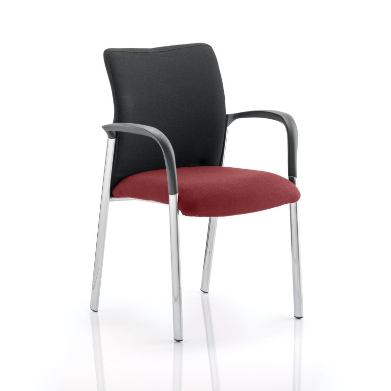 Academy Black Fabric Back Bespoke Colour Seat With Arms Gingseng Chilli