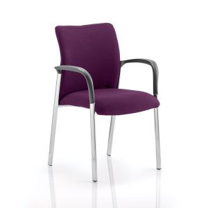 Academy Bespoke Colour Fabric Back And Bespoke Colour Seat With Arms Tansy Purple