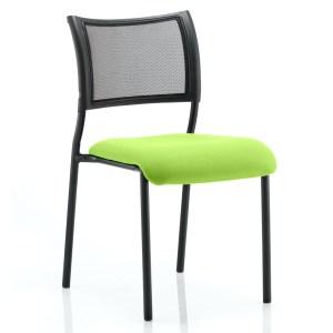 Brunswick No Arm Bespoke Colour Seat Black Frame Myrhh Green