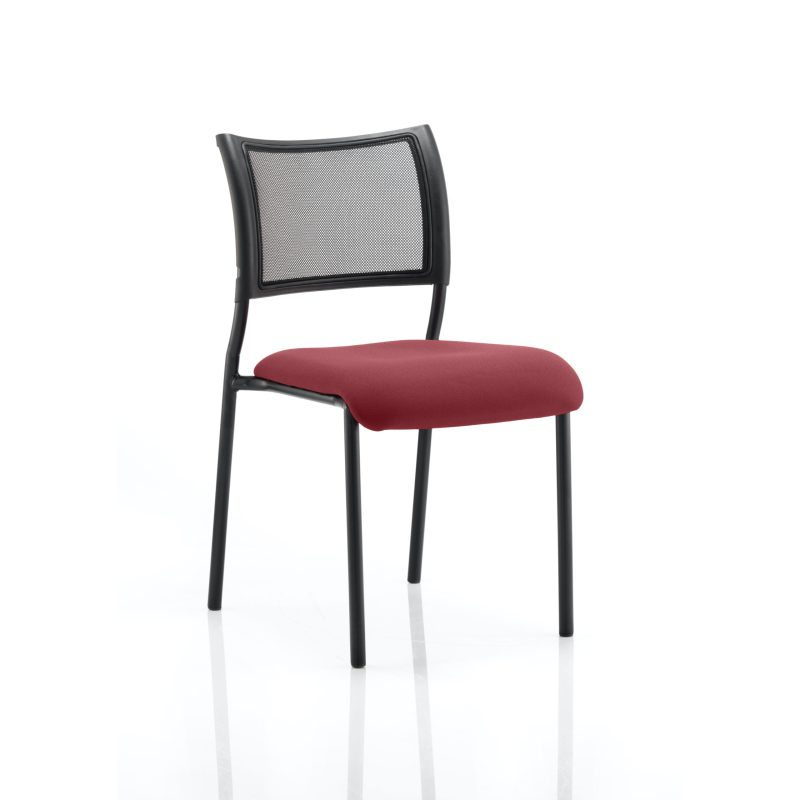 Brunswick No Arm Bespoke Colour Seat Black Frame Gingseng Chilli