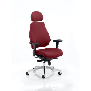 Chiro Plus Ultimate With Headrest Bespoke Colour Gingseng Chilli