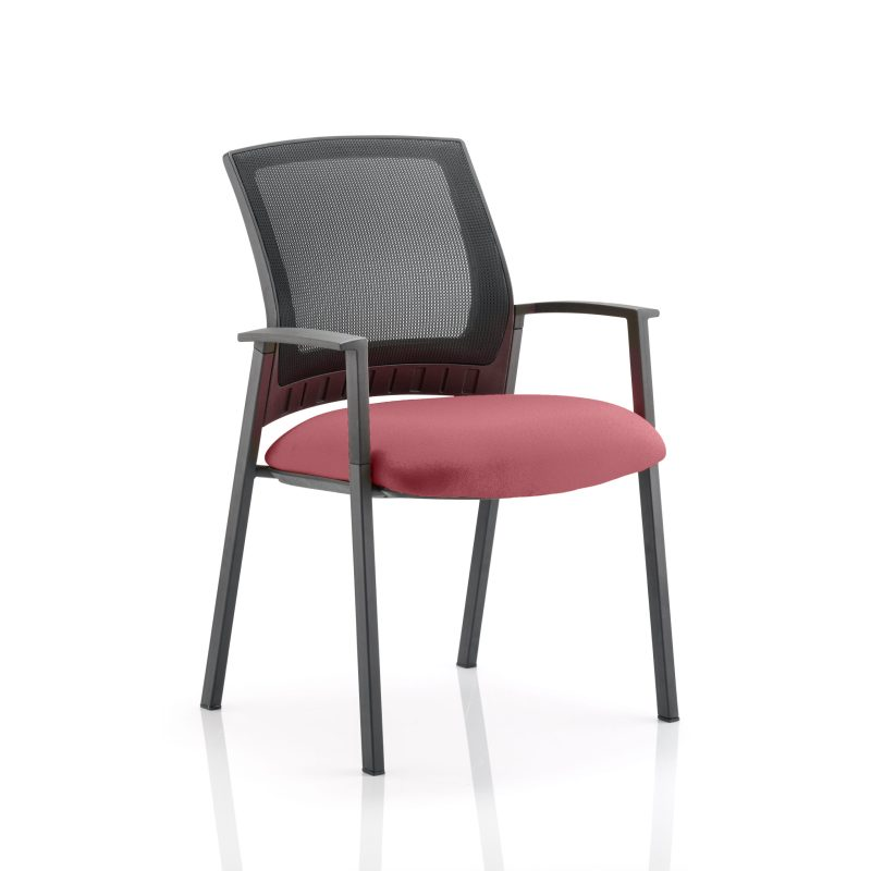 Metro Visitor Chair Bespoke Colour Seat Gingseng Chilli