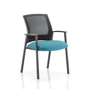 Metro Visitor Chair Bespoke Colour Seat Maringa Teal