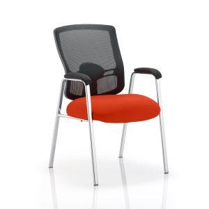 Portland Visitor (Straight Leg) Bespoke Colour Seat Tabasco Red