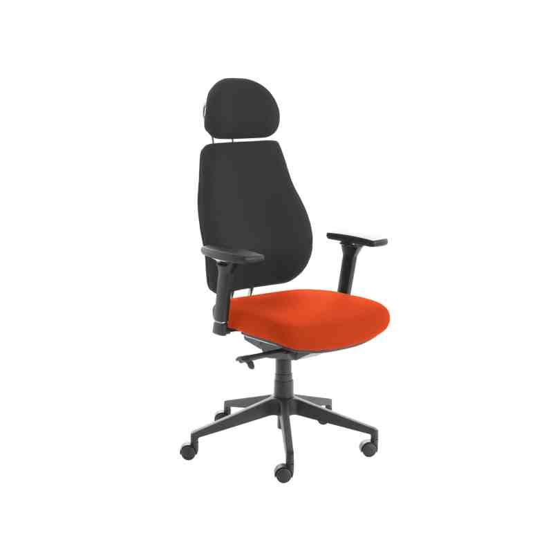 Chiro Plus Lite With Headrest Upholstered Seat Only Tabasco Red