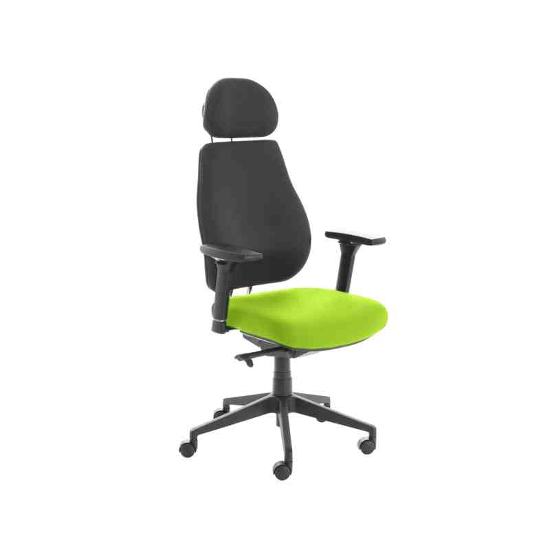 Chiro Plus Lite With Headrest Upholstered Seat Only Myrrh Green