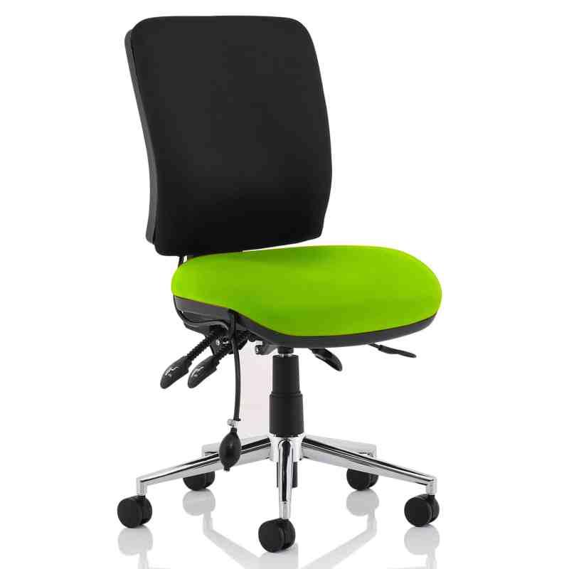Chiro Medium Back Bespoke Colour Seat Myrhh Green No Arms