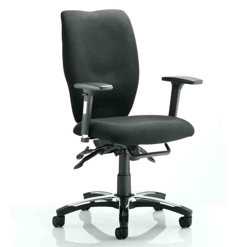 Sierra Executive Chair Black Fabric With Arms