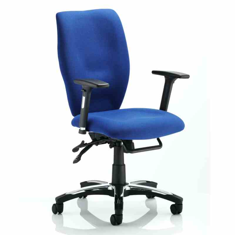 Sierra Executive Chair Blue Fabric With Arms