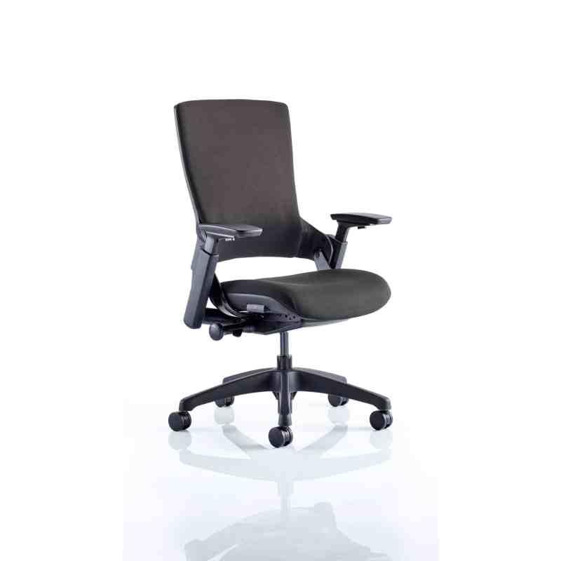 "Molet ""Task Exec"" Black Frame Black Fabric Chair"