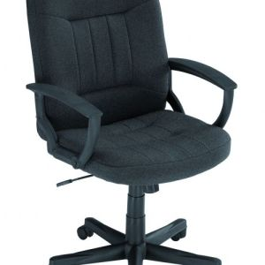 Hague Charcoal Fabric Executive Chair With Fixed Arms